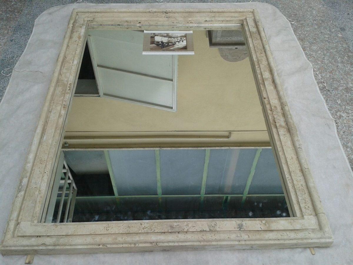 Cornice specchio in travertino a massello for Cornice specchio