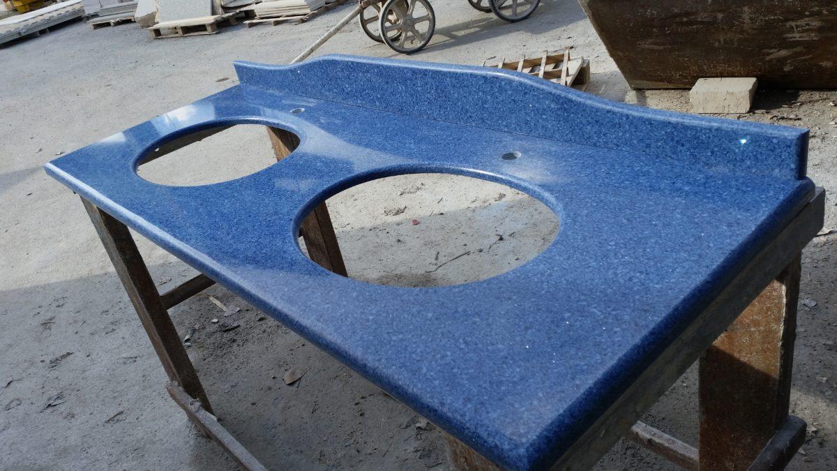 Top bagno in okite prisma blu capri - Top bagno okite ...