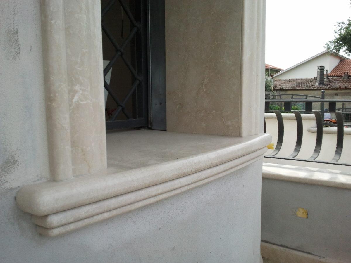 Soglie sagomate in botticino - Soglie in marmo per finestre ...