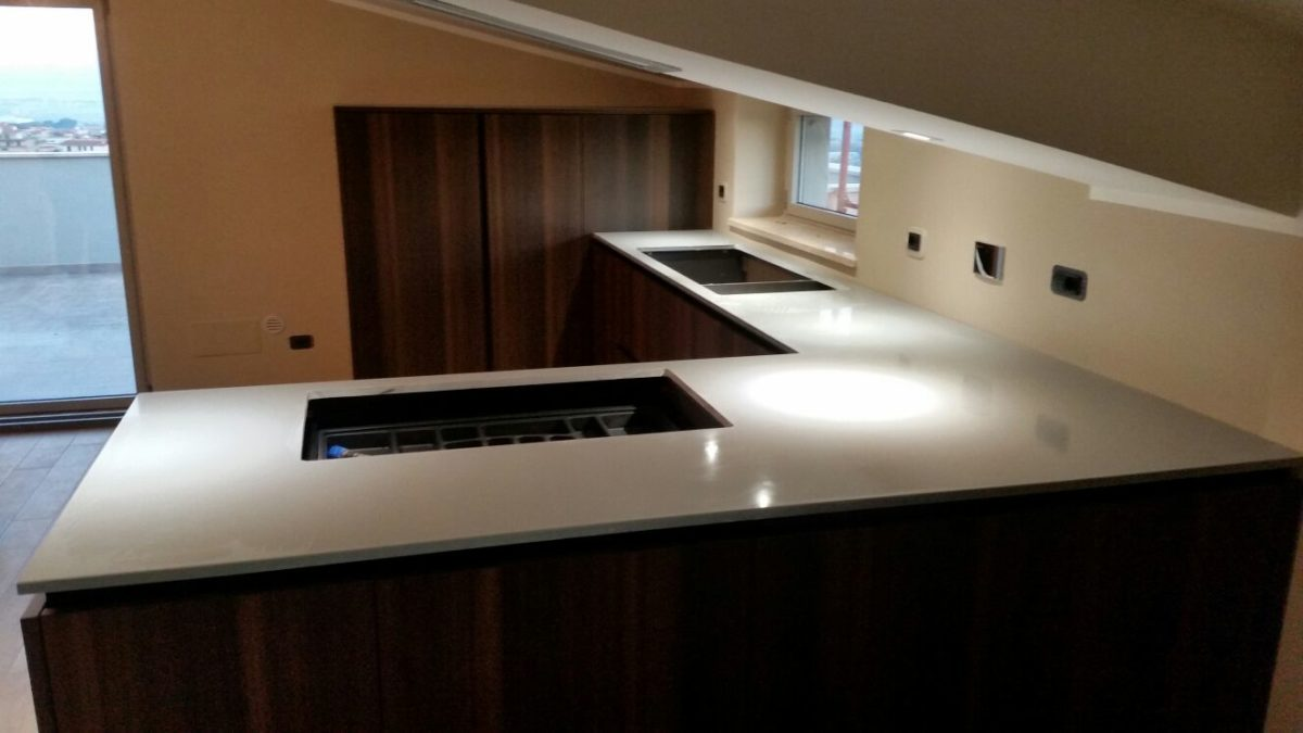 Top cucina OKITE grigio nordico | Migliorati Srl Roma