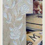 incisione marmo tralcio di fiori